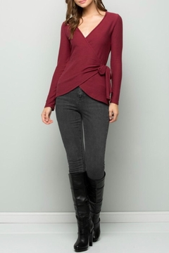 Wasabi + Mint Burgundy Wrap Top - Product List Image