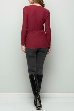 Wasabi + Mint Burgundy Wrap Top - Alternate List Image