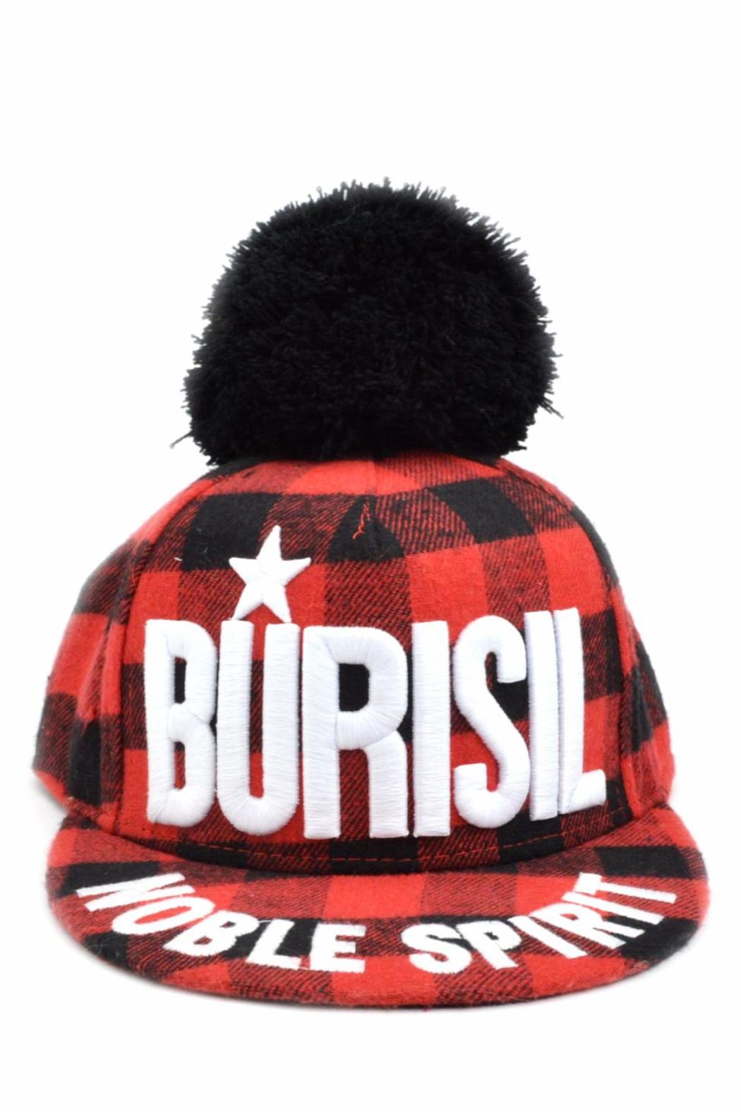 Burisil Plaid Baseball Cap - Main Image