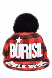 Burisil Plaid Baseball Cap - Front cropped