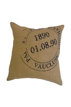Shoptiques Product: Burlap Postage Cushion