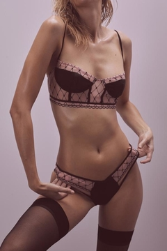 FOR LOVE & LEMONS Burlesque Fishnet Underwire - Product List Image