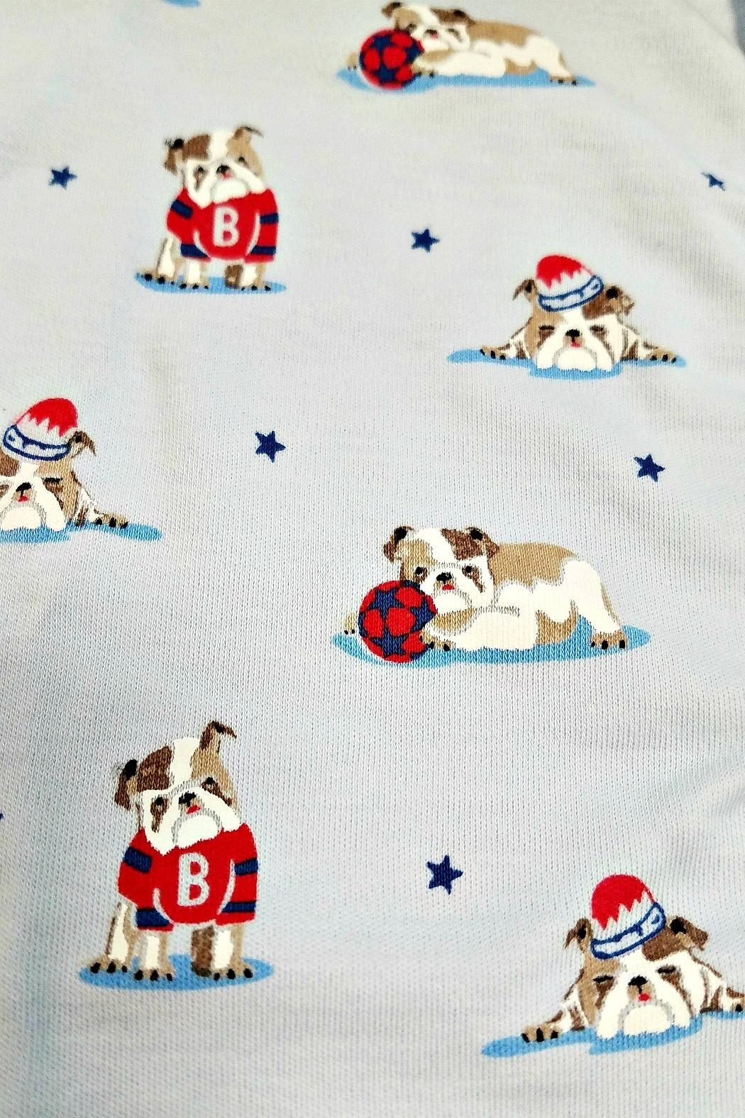 Kissy Kissy Burly Bulldogs Footie - Front Full Image