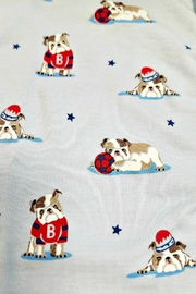 Kissy Kissy Burly Bulldogs Footie - Front full body
