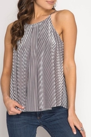 She + Sky Burn Out Cami - Front cropped