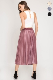 She + Sky Burn Out Skirt - Side cropped