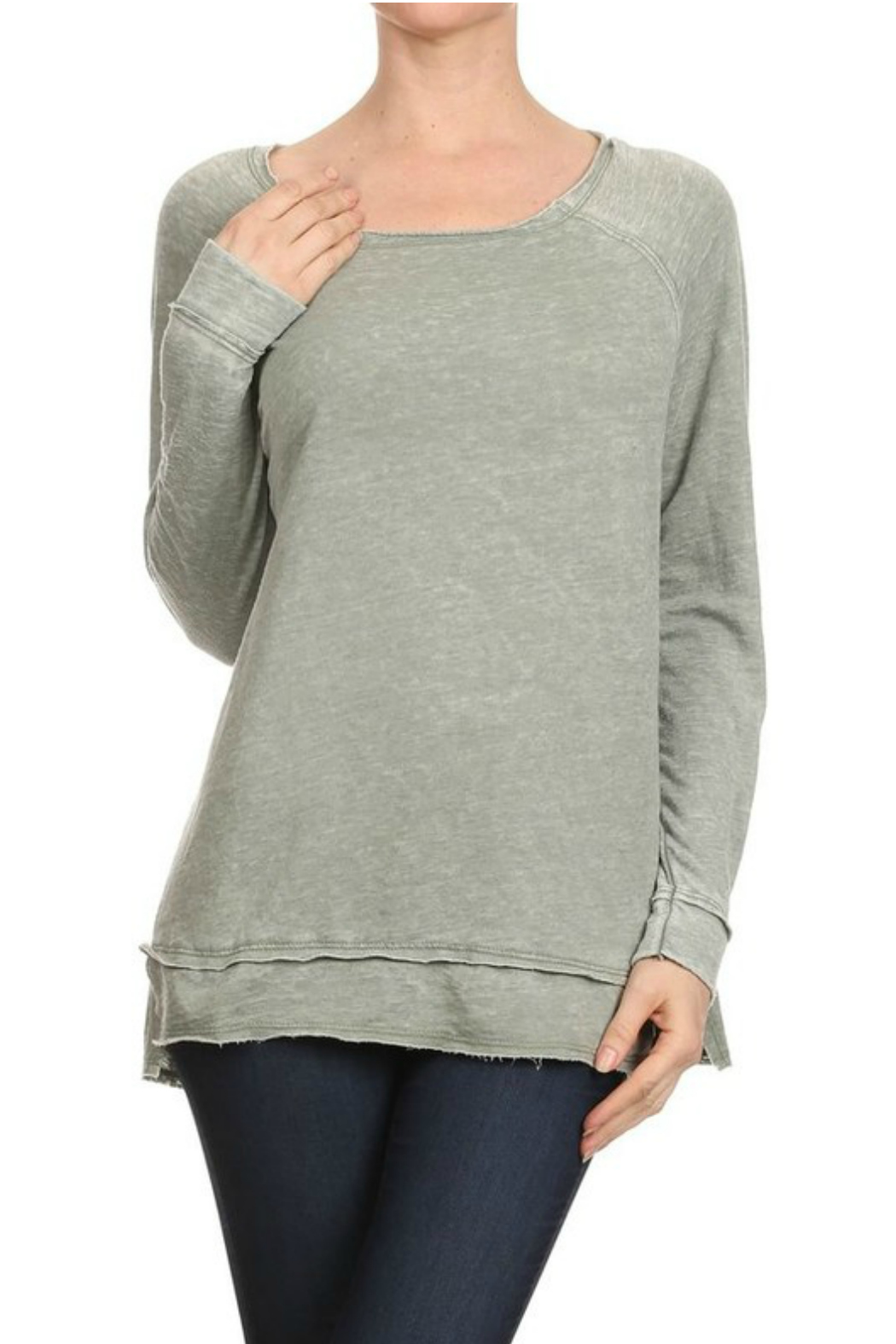 T-Party Fashion Burn out sweater - Front Cropped Image
