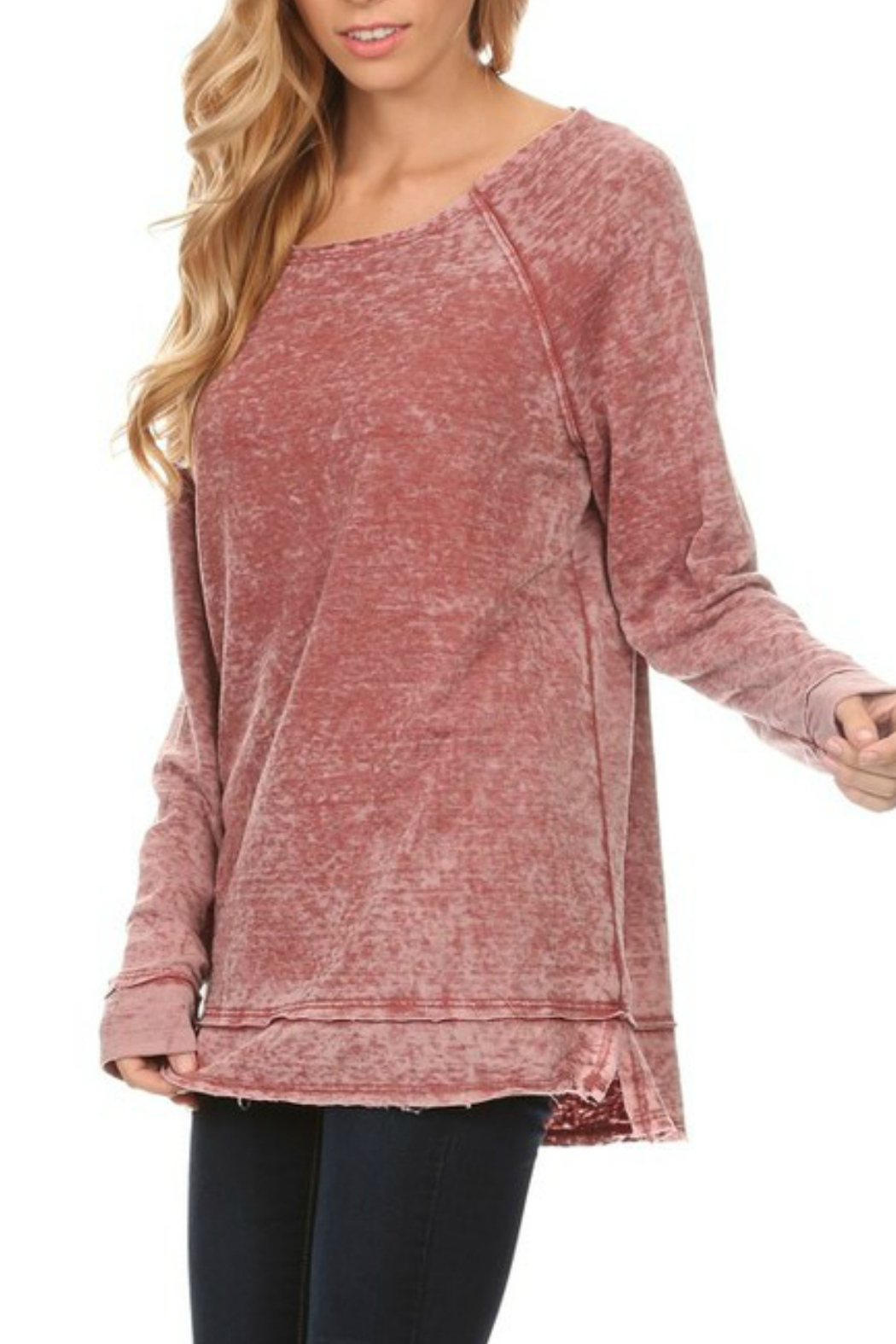 T-Party Fashion Burn out sweater - Main Image
