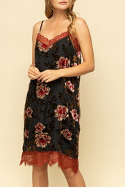 Mystree Burn out velvet dress - Product Mini Image