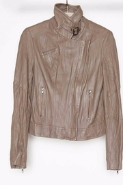 Burning Torch Moto Leather Jacket - Front cropped