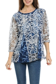 Cubism Burnout Flare Top - Product Mini Image
