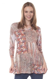 Katina Marie Burnout Flare Tunic - Product Mini Image