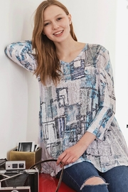 Katina Marie Burnout Flare Tunic - Front cropped
