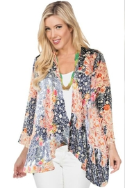 Aris A Burnout Floral Cardigan - Product Mini Image