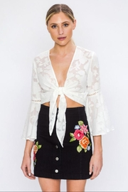 Jealous Tomato Burnout Floral Jacket - Product Mini Image