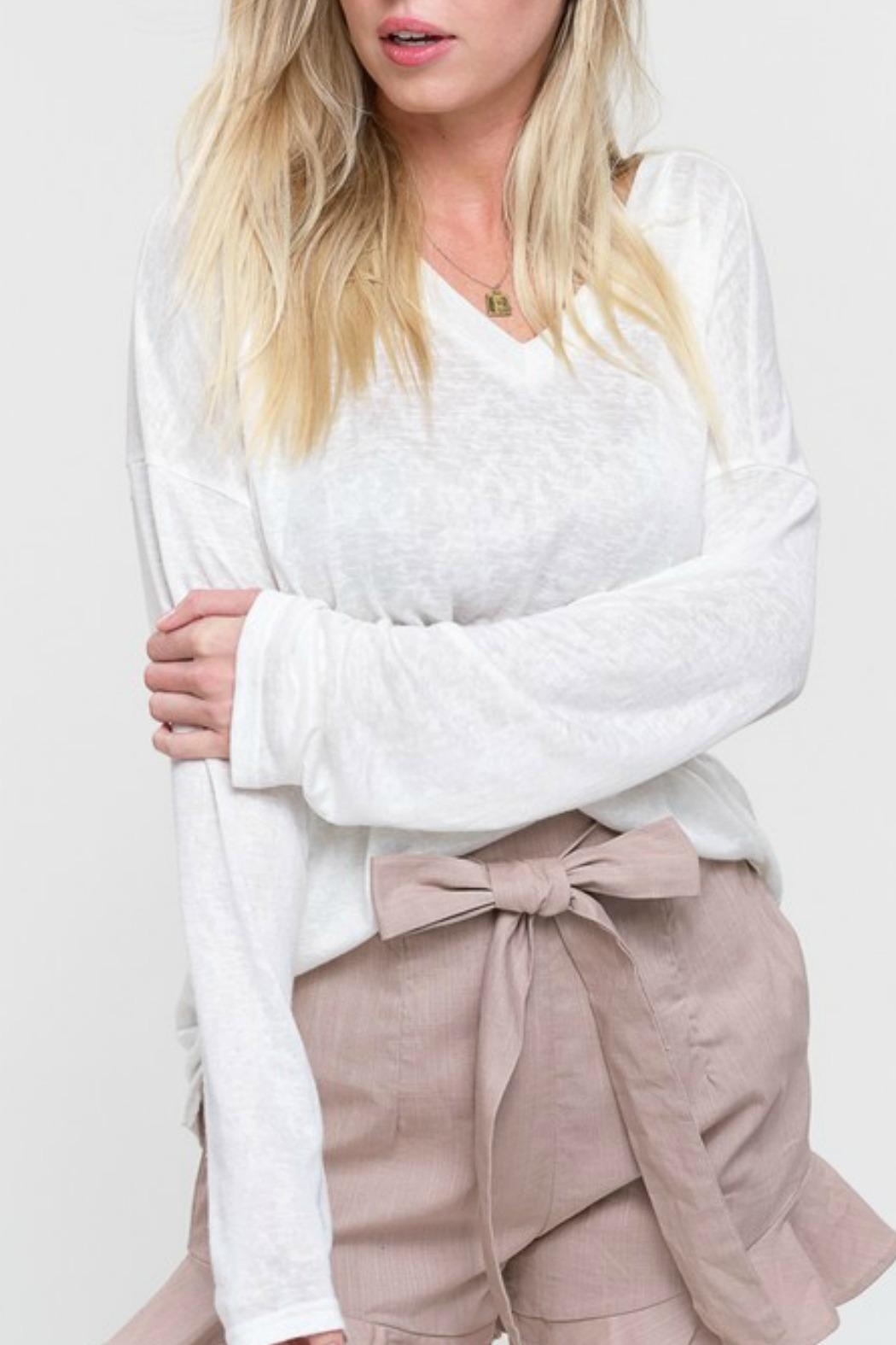 Listicle Burnout Long-Sleeve Tshirt - Side Cropped Image