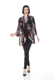 Aris A Burnout Velvet Cardigan - Product Mini Image