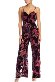 luxxel Burnout-Velvet Floral Jumpsuit - Product Mini Image