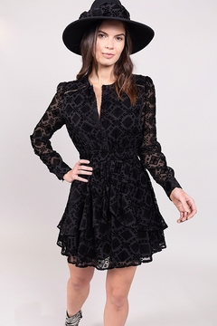 Allison Collection  BURNOUT VELVET RUFFLE DRESS - Product List Image