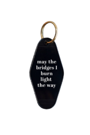 He Said, She Said Burnt Bridges Key Chain - Product Mini Image