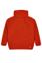 Mayoral Burnt-Orange Oversized Sweater - Front cropped