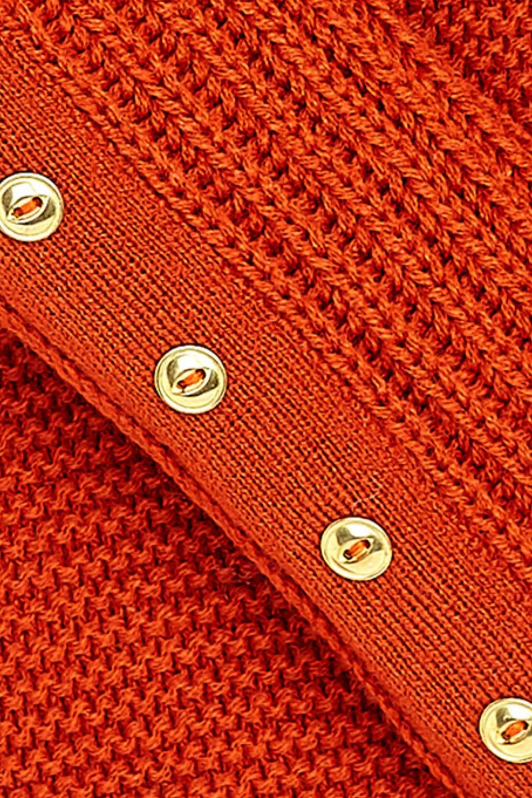 Mayoral Burnt-Orange Oversized Sweater - Front Full Image