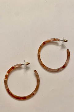 tesoro  Burnt Orange Resin Hoop Earrings - Alternate List Image