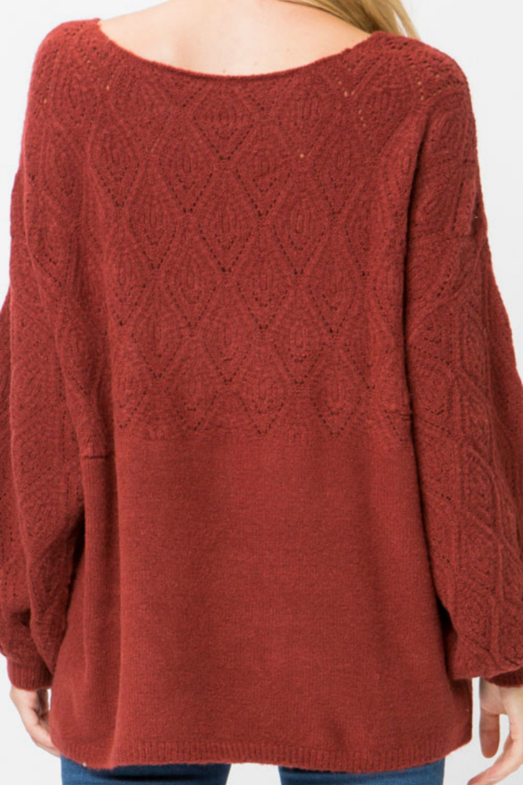 d3384e50764ec Cozy Casual Burshed lantern sleeve sweater from New York by Gado ...