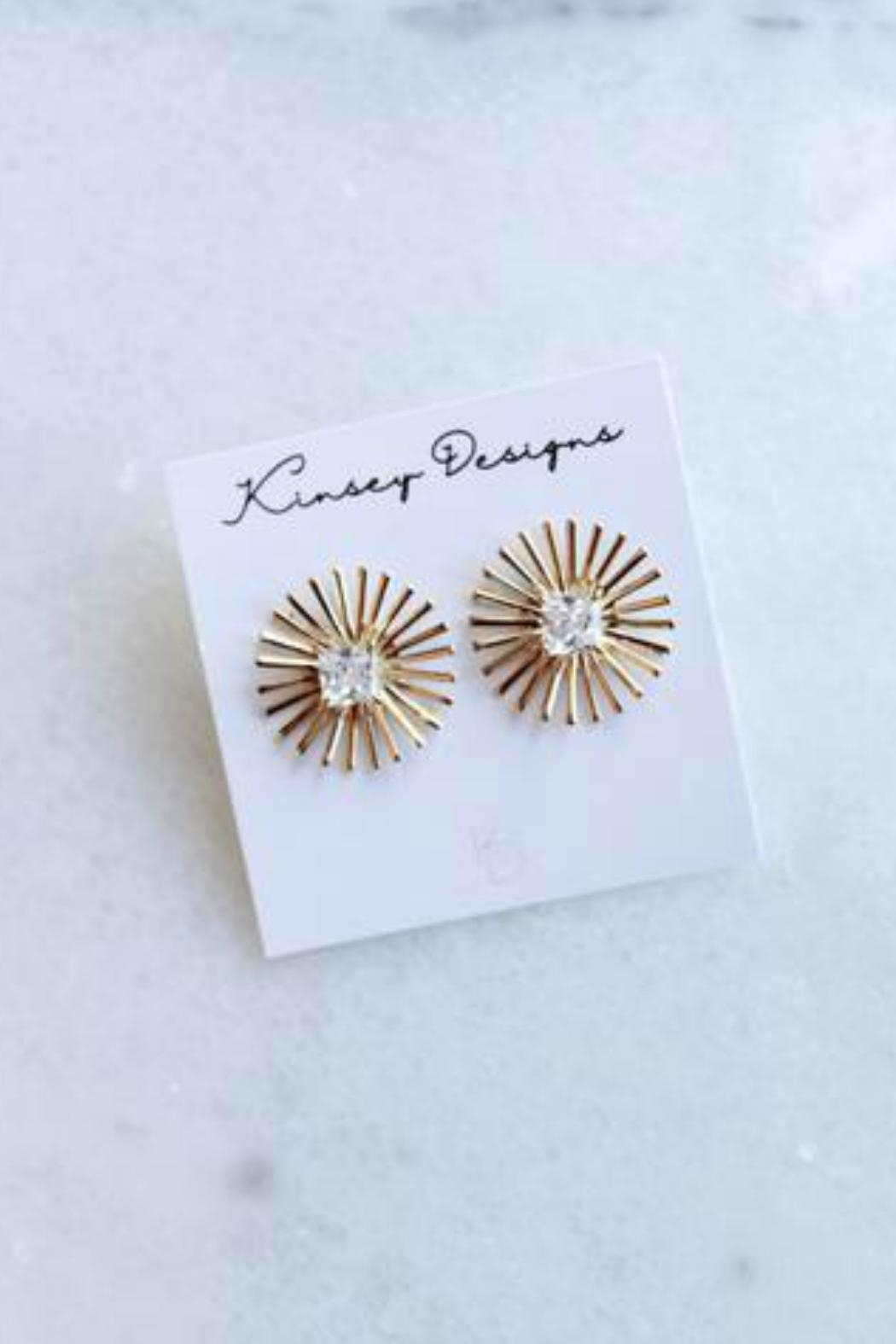 Kinsey Designs Burst Spark Earrings - Front Cropped Image
