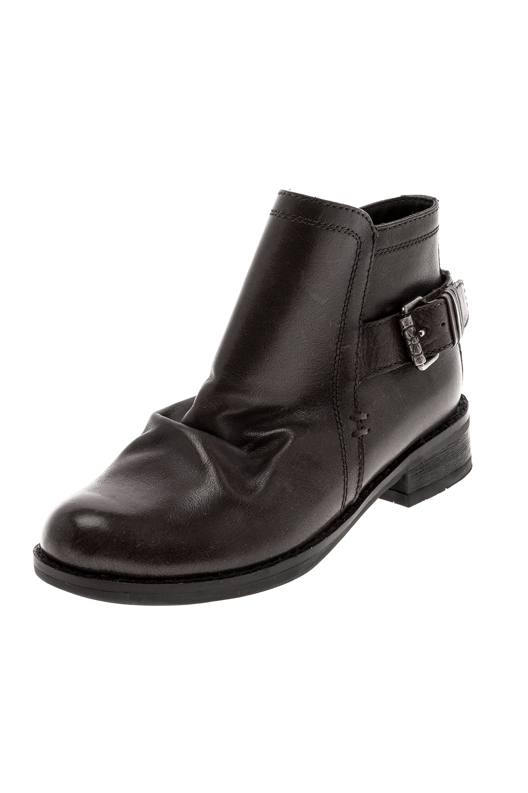 Black Mid Calf Boot