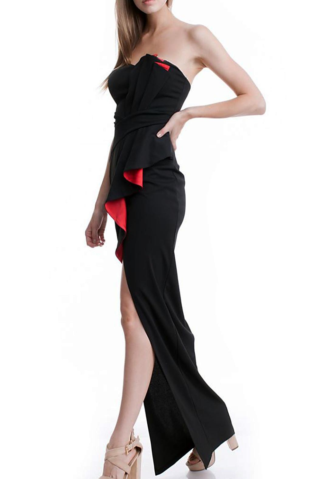 Bee Daring Couture Bustier Maxi Dress - Main Image