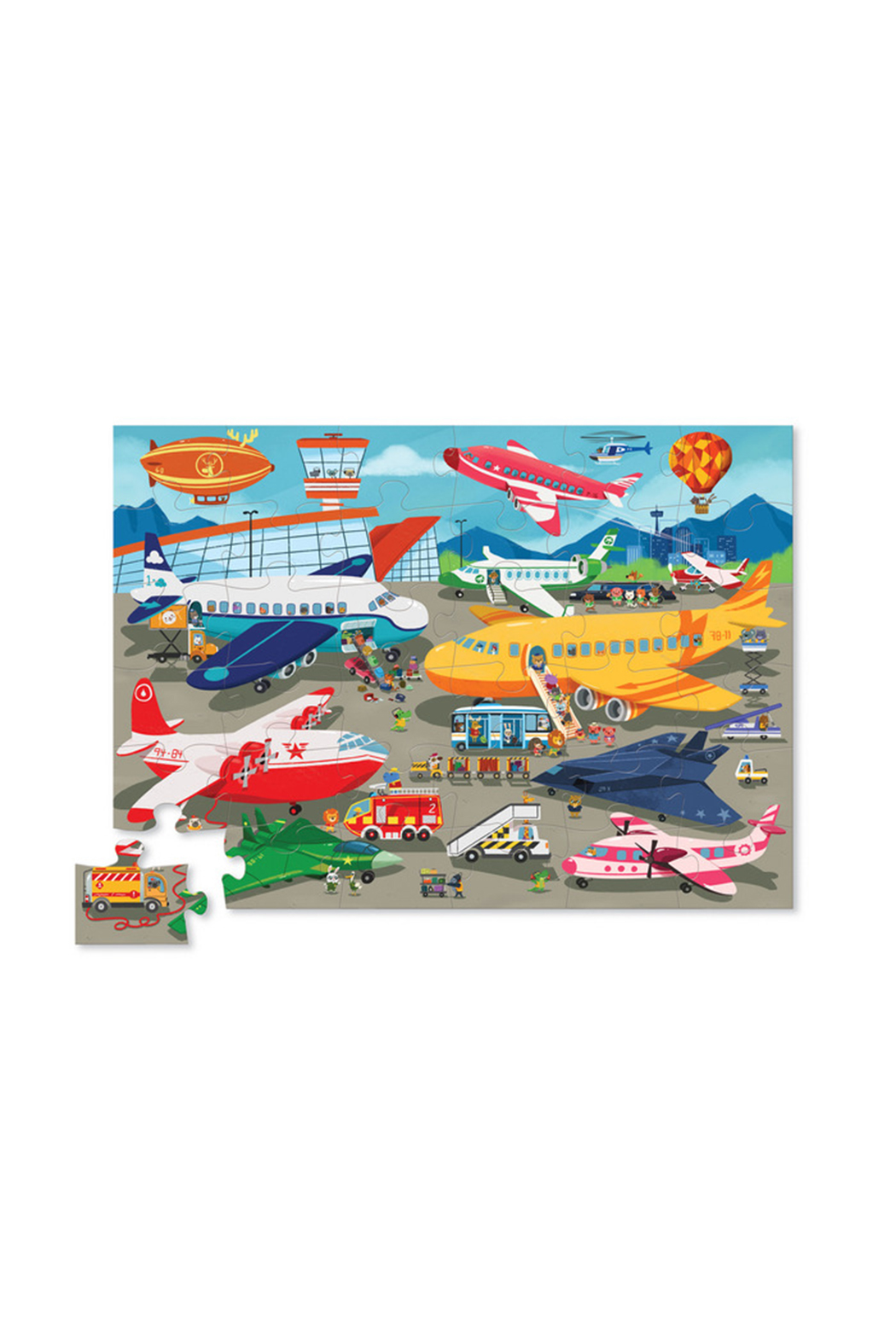 Crocodile Creek Busy Airport 36 Piece Puzzle - Front Full Image
