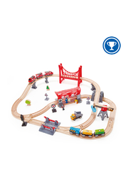 Hape  Busy City Rail Set - Front cropped