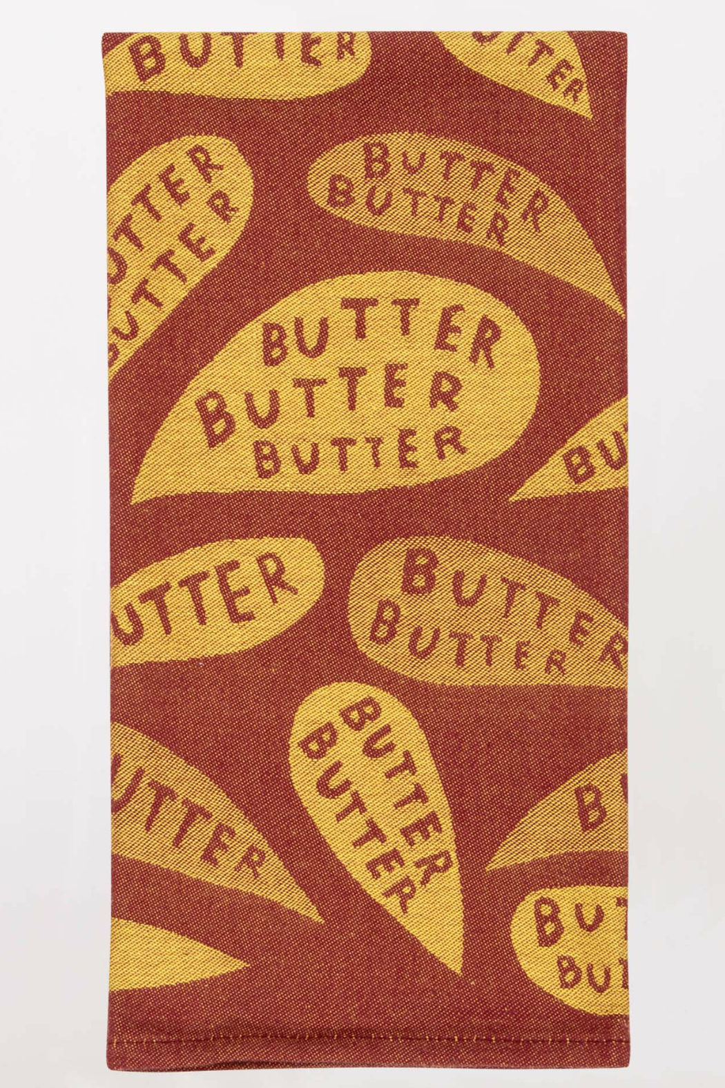Blue Q Butter Butter go away dishtowel - Front Cropped Image