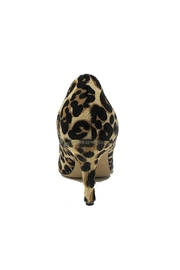 Butter Champagne Leopard Pump - Front full body