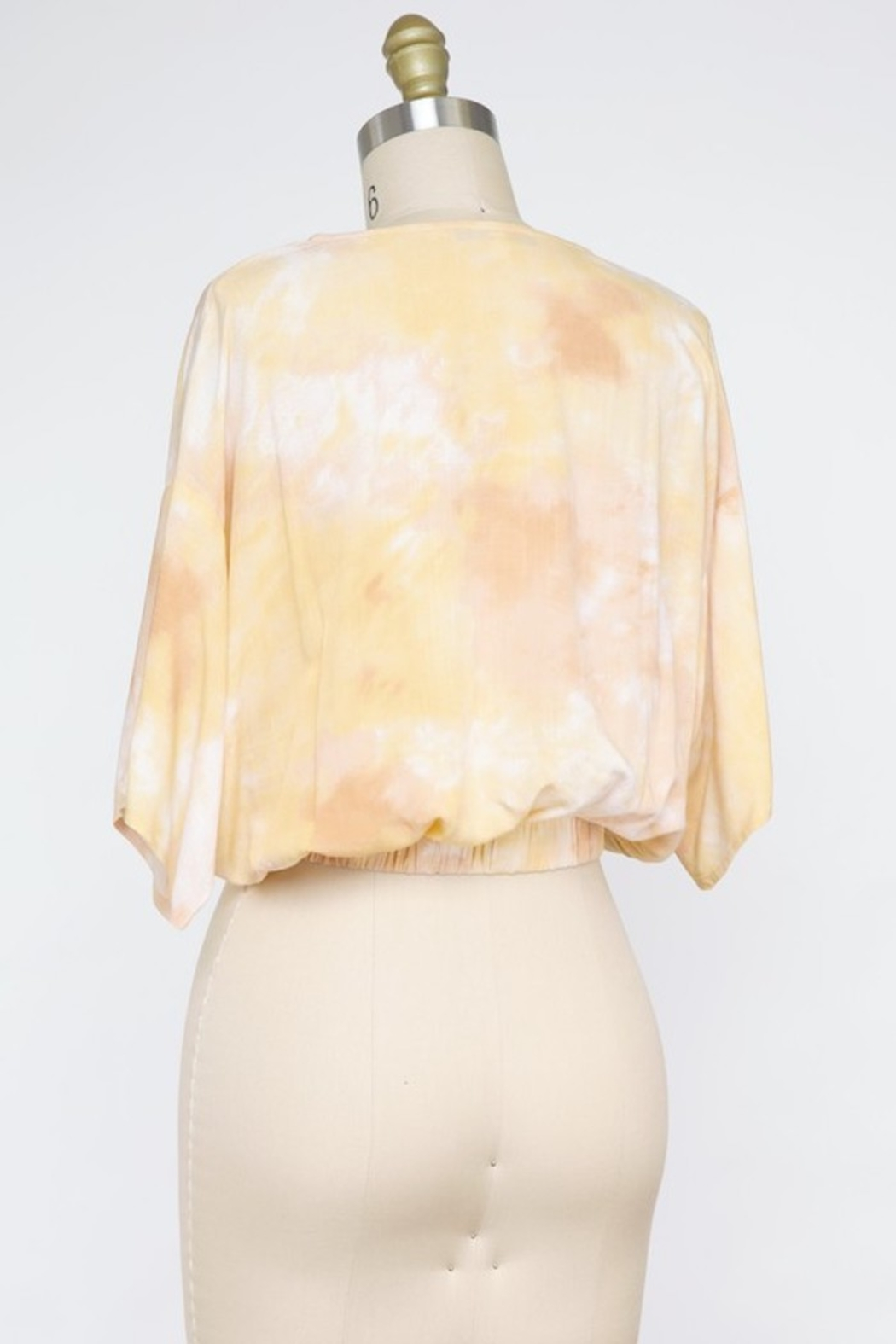 Final Touch Butter Cream Surplice Top - Front Full Image