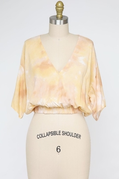 Final Touch Butter Cream Surplice Top - Product List Image