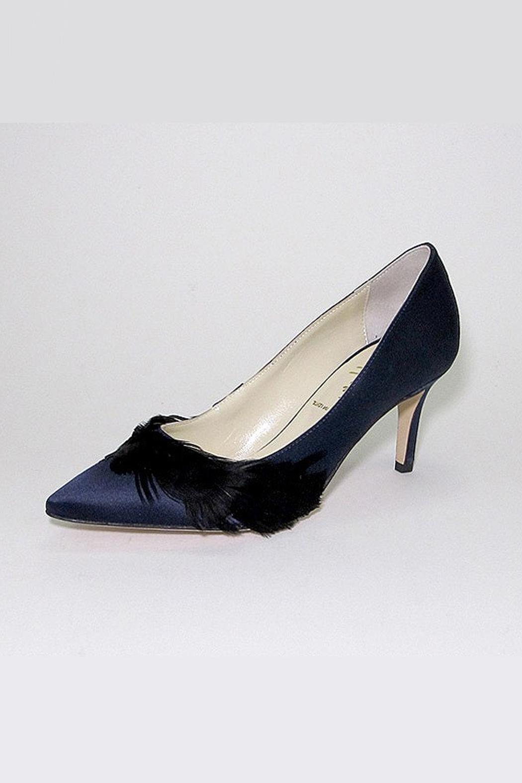 Butter Crimson Navy Pump - Front Cropped Image