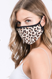 Amitie Clothing Butter Leopard Mask - Product Mini Image