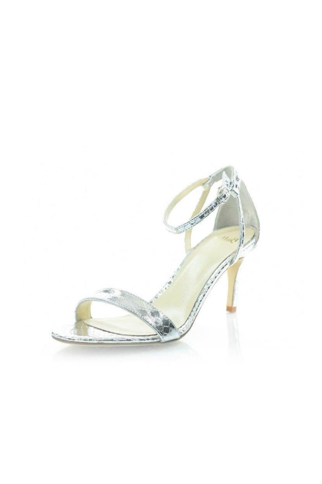 Butter Silver Leather Sandal - Front Cropped Image