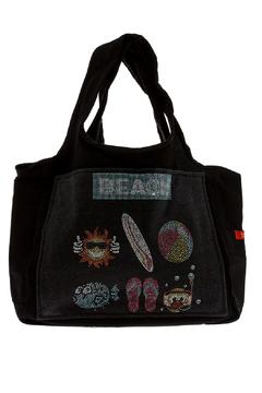 Shoptiques Product: Black Canvas Tote