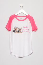 Butter Super Soft Children's Graphic Colorblock Tee - Product Mini Image