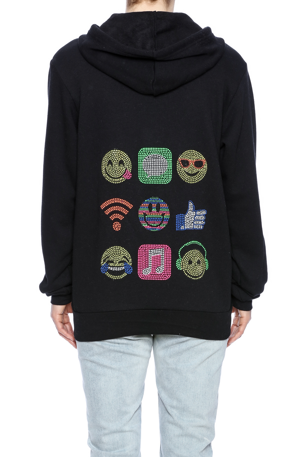 56feeaf0b Butter Super Soft Social Media Applique Hoodie from Long Island by ...