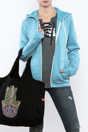 Butter Super Soft Zip Hoodie With Applique - Product Mini Image