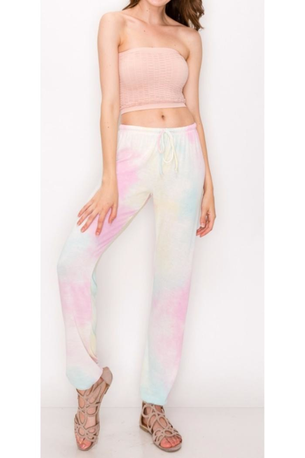 Butter Super Soft Tie Dye Sweatpant - Front Cropped Image