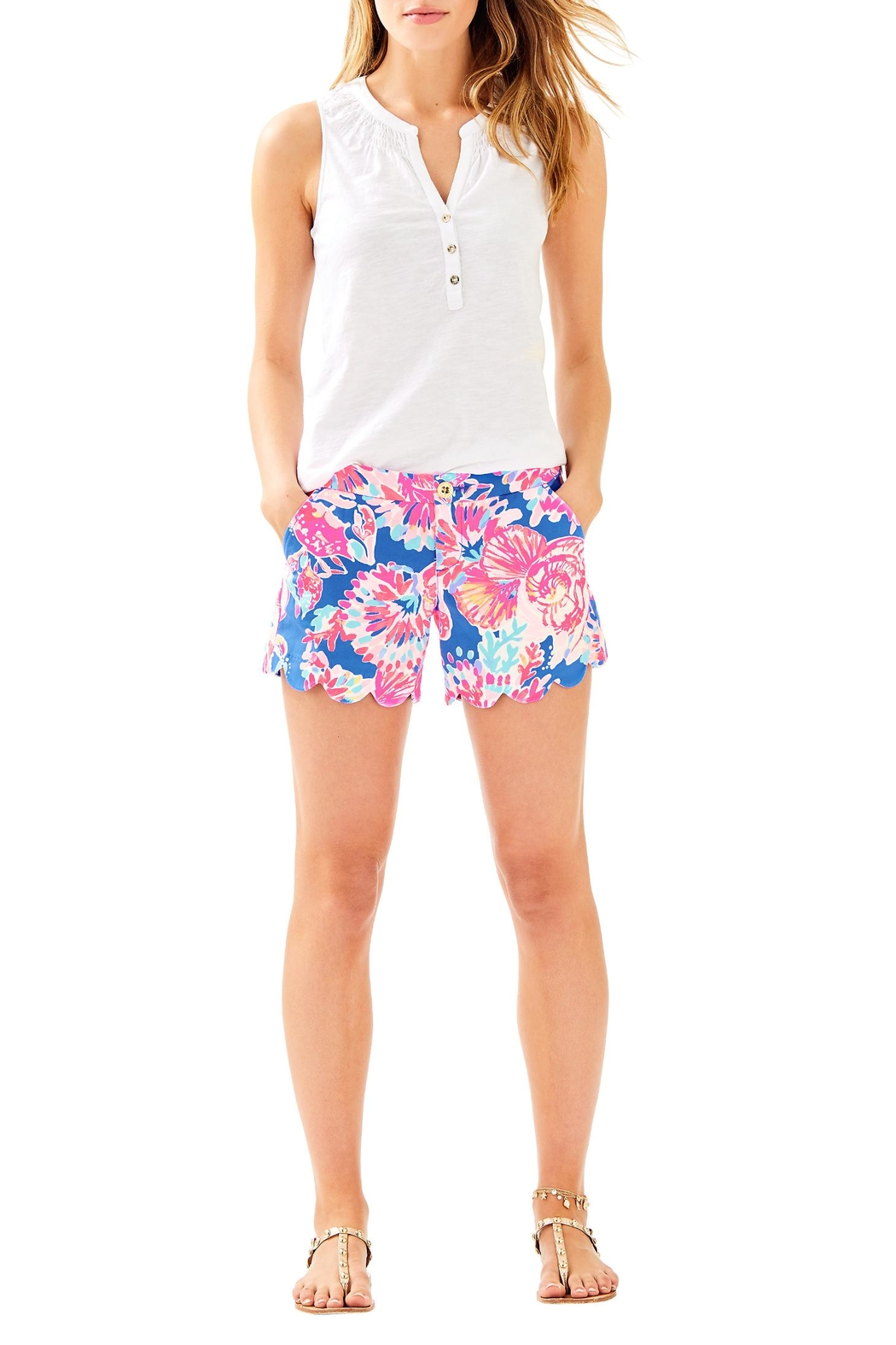 Lilly Pulitzer Buttercup Short - Back Cropped Image