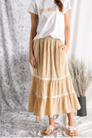 Wellmade Buttercup Tired Skirt - Product Mini Image