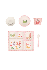 Love Mae Butterflies Bamboo Divided Plate Set - Product Mini Image