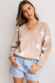 lelis Butterflies Graphic Sweater - Product Mini Image