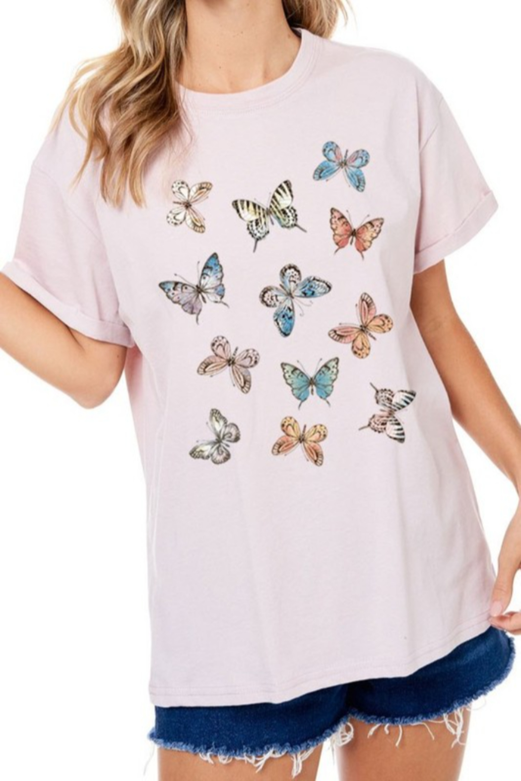 JW Designs Butterflies Graphic Tee - Main Image